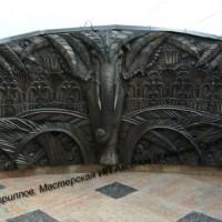 Оформление балкона. Бронза. Литье. Автор декоративной композиции - В.Кириллов