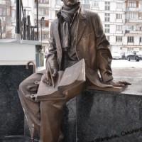 «Студент». Бронза. Литье. Автор скульптуры - В.Кириллов