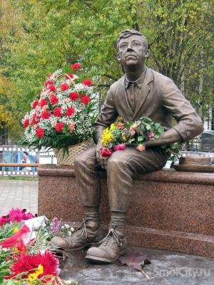 Памятник Ю.Никулину, г.Демидов