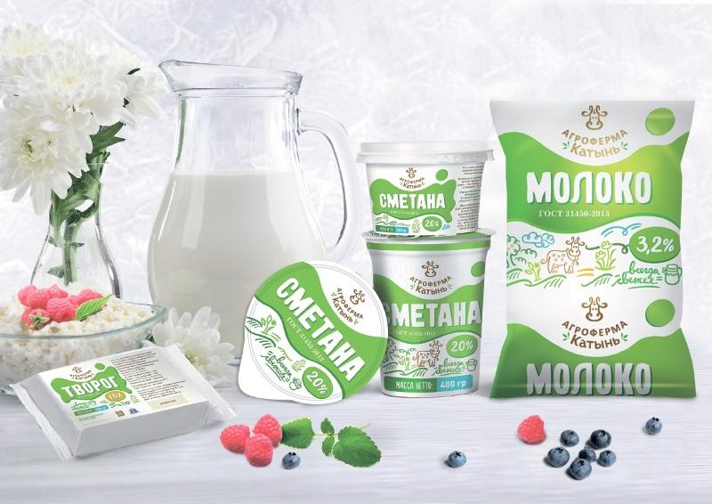 """С декабря 2015 молочная продукция """"Агрофирма-Катынь"""" будет выходить под новым брендом в новой упаковке"""